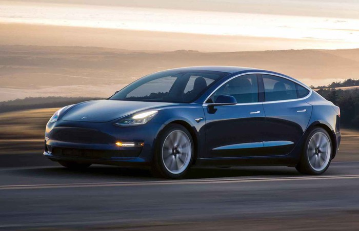Image of a Tesla Model 3.