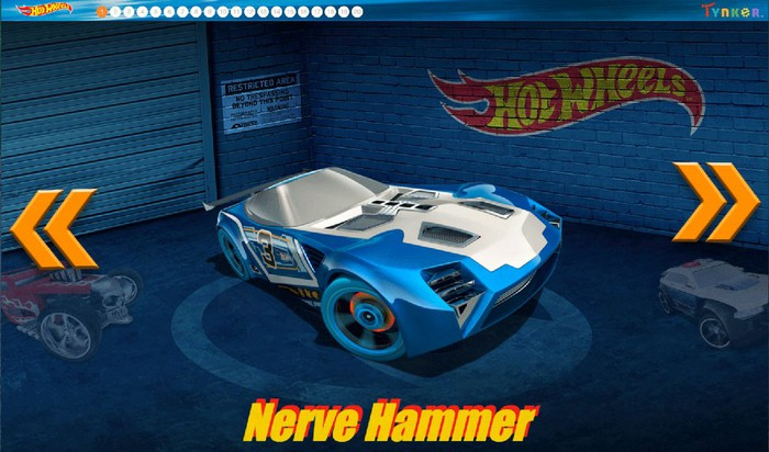 An image from a Hot Wheels car game