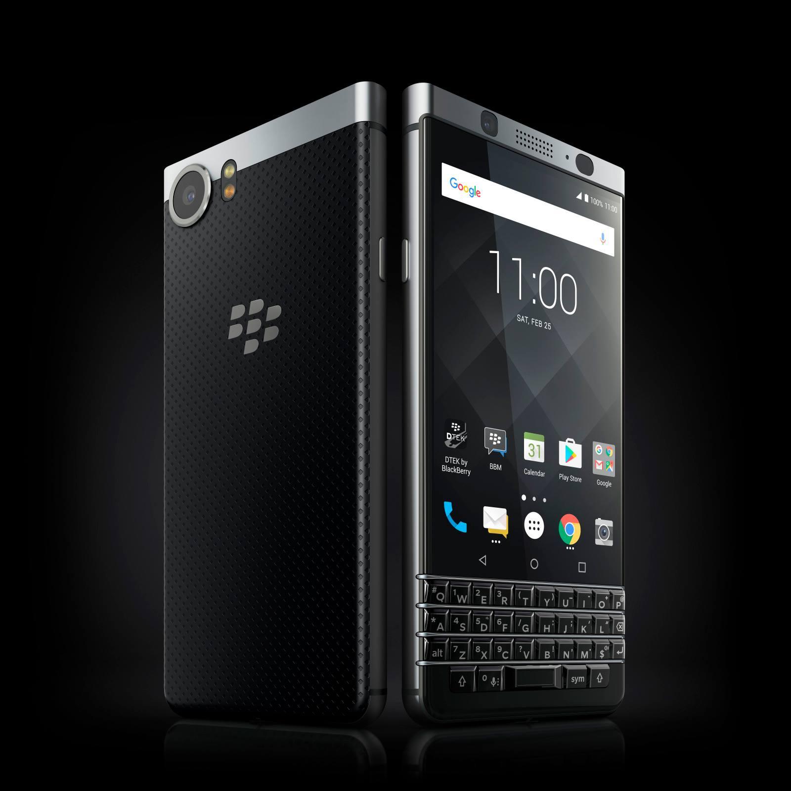 A BlackBerry KeyOne smartphone