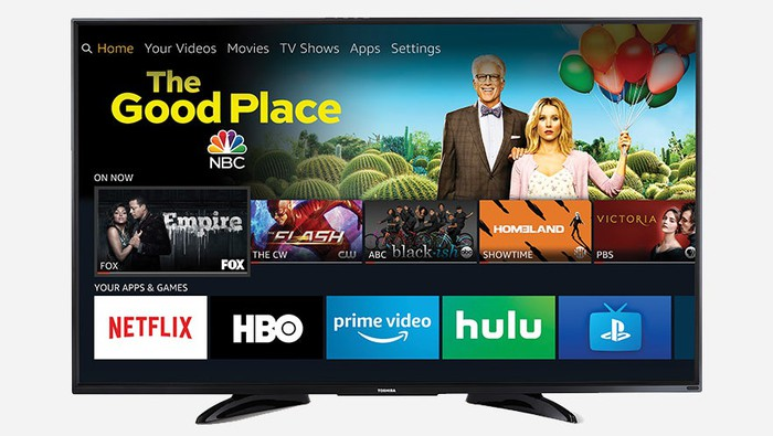 An artist's rendering of what one of the new smart TVs will look like