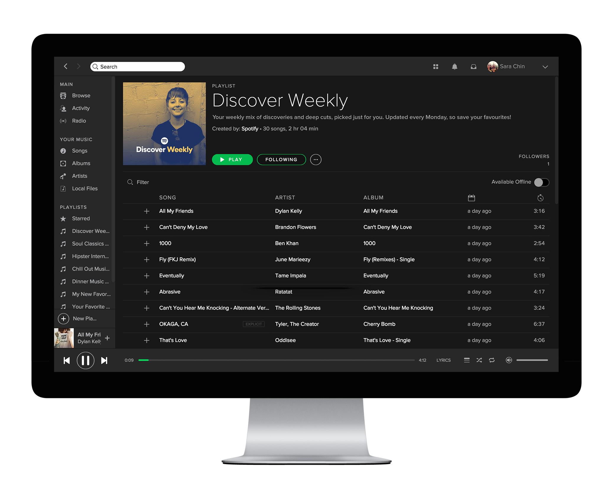 Spotify on desktop