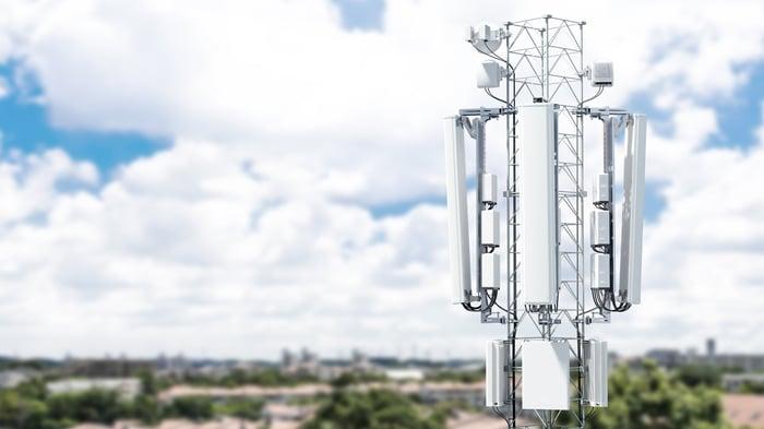 An Ericsson suburban mast.