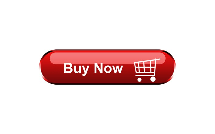 A red button displaying Buy Now with a shopping-cart icon