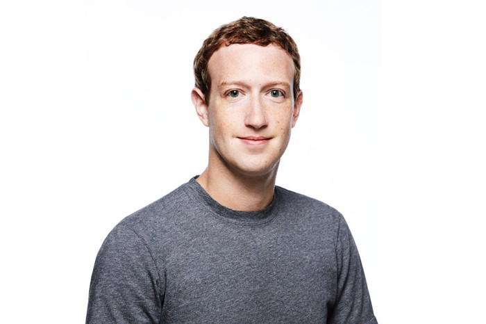 Headshot of Facebook CEO Mark Zuckerberg