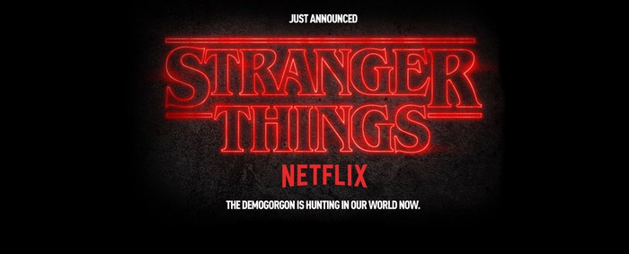 Universal's Halloween Horror Nights ad for Stranger Things.
