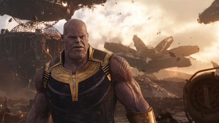 An illustration of Thanos, the villian in the new Averngers movie