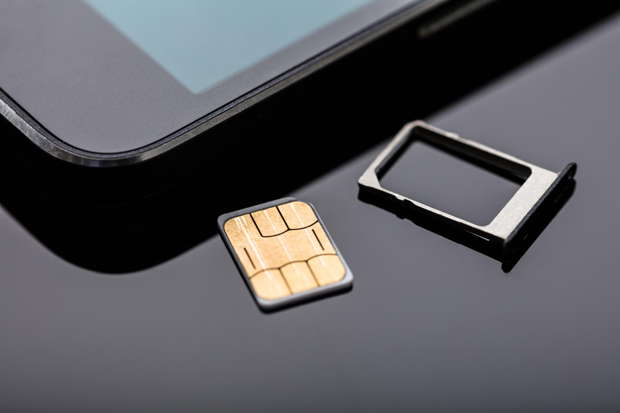 A SIM card.