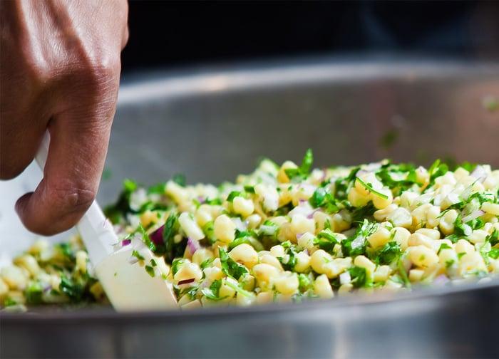 Chipotle corn salsa.