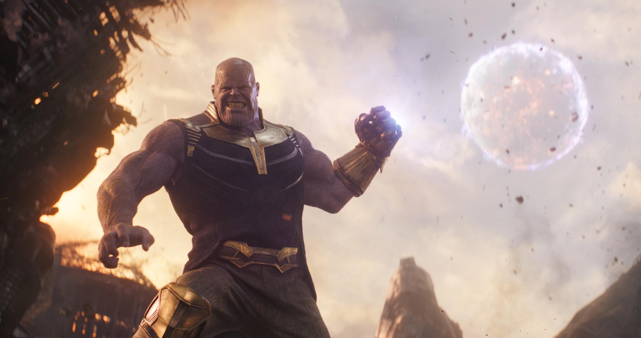 Thanos from Disney's Avengers: Infinity War.