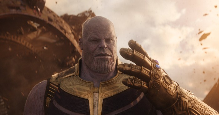 Thanos from Avengers: Infinity War.