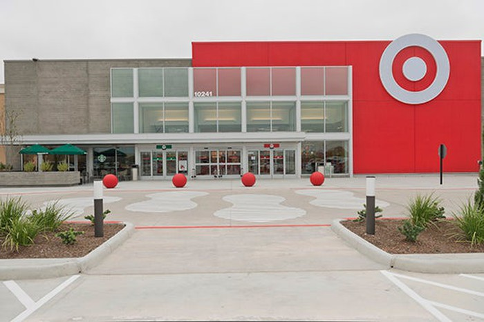 The entrance of a Target store