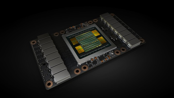 An NVIDIA data center graphics processor.