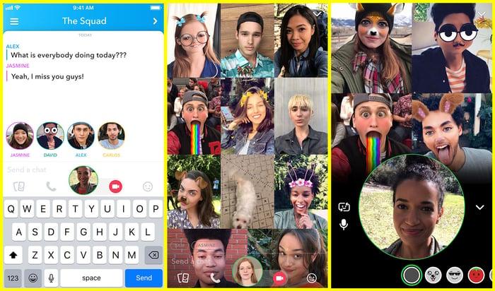 Snapchat's app.