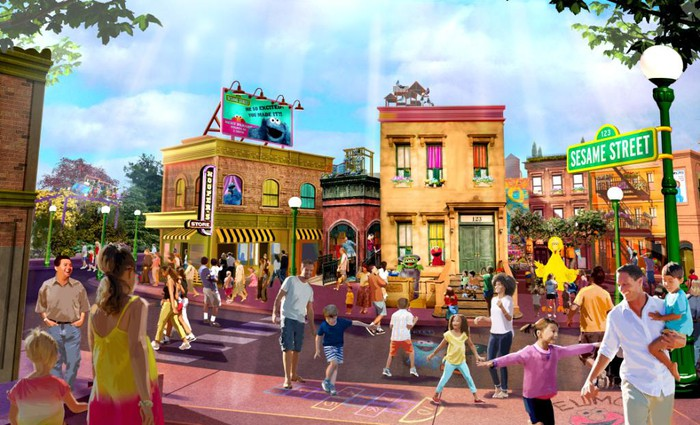 Sesame Street Land concept art, coming to SeaWorld Orlando in 2019.