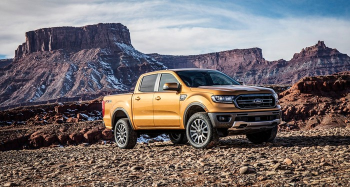 Ford's 2019 Ranger parked off-road.