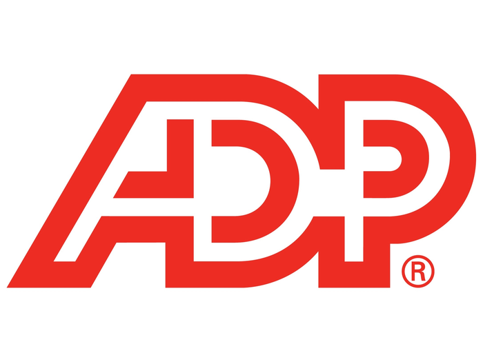 ADP letter logo in red
