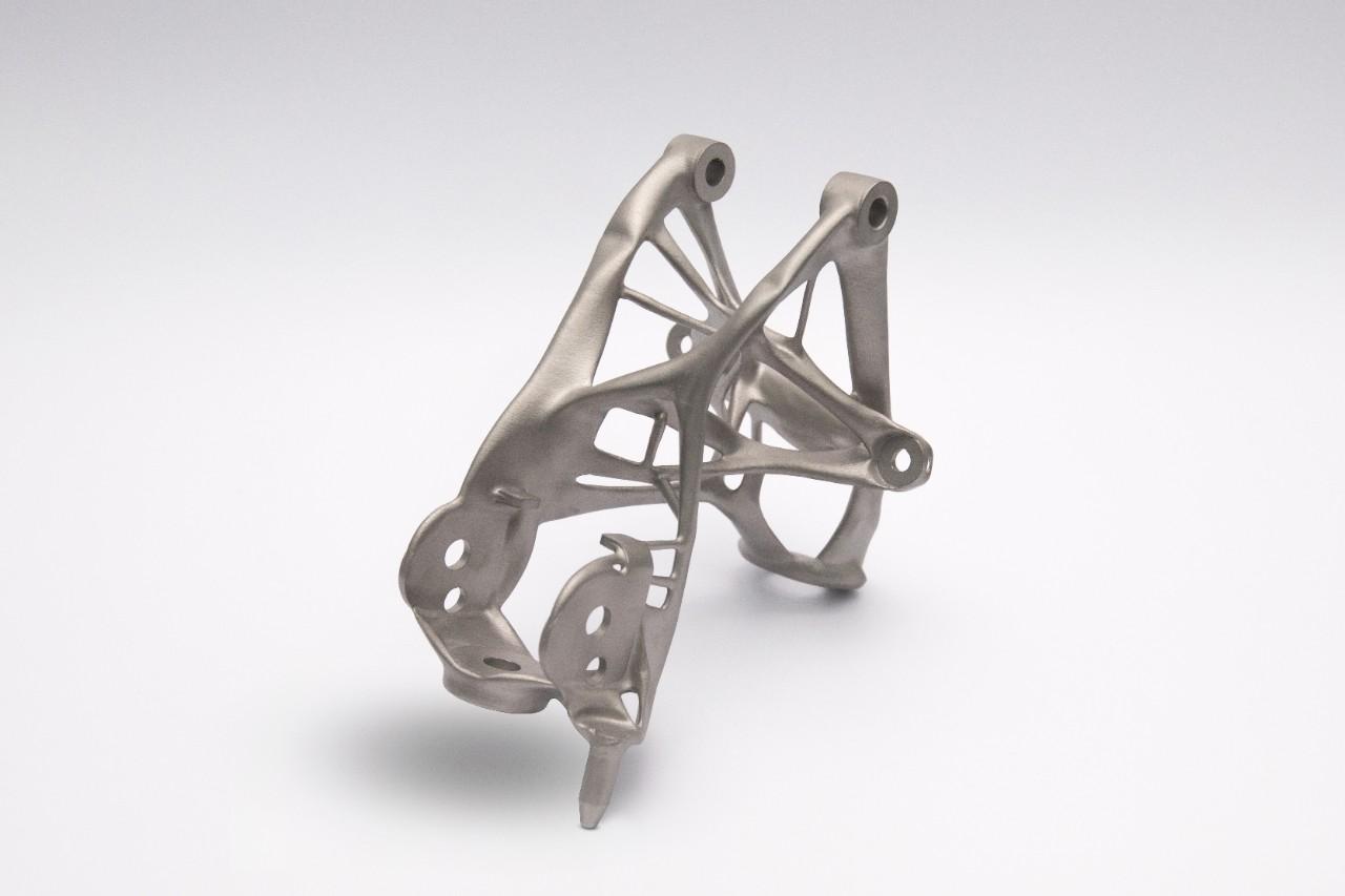 A 3D-printed seat bracket.