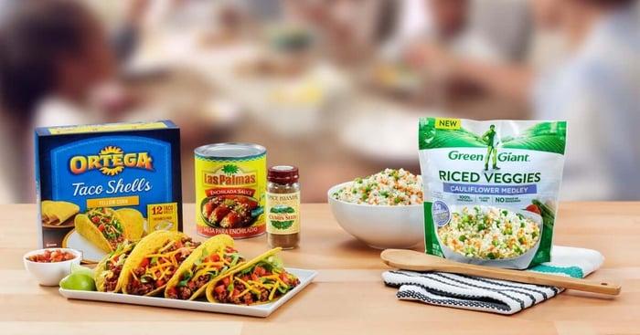 Assortment of B&G Foods brands.
