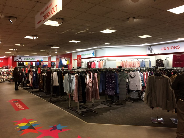 The interior of a Macy's Backstage store