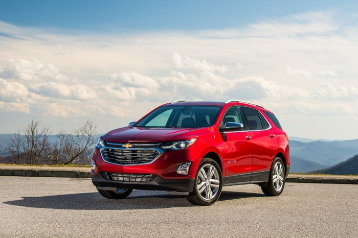 A red Chevy Equinox