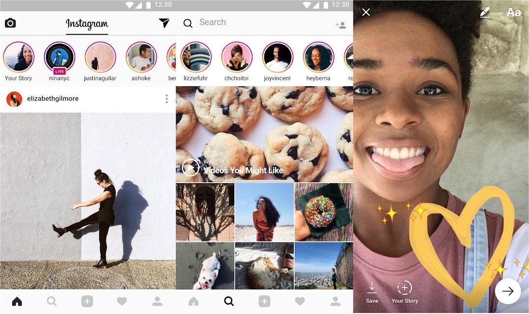 Instagram's mobile app.