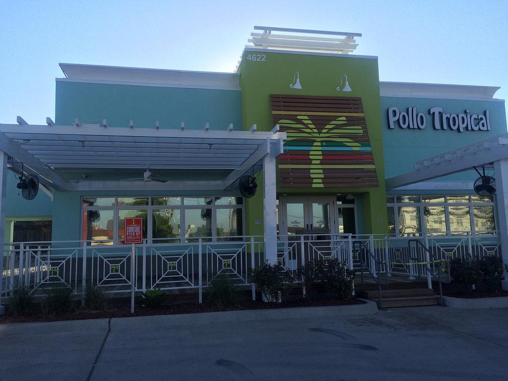 The exterior of a Pollo Tropical location