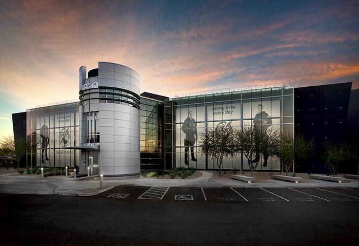 The outside of Axon Enterprise's headquarters.