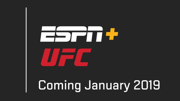ESPN+ and UFC Coming January 2019.