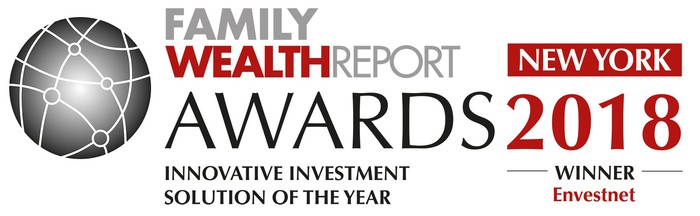 Announcement of Envestnet winning Family Wealth Report award for innovative investment solution of the year.