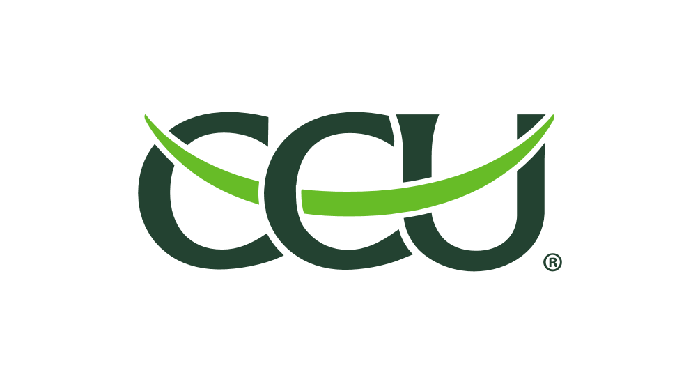 CCU logo in green with an upward swoosh.