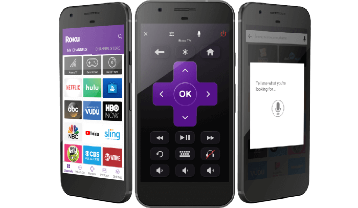 Smartphones with Roku app featured