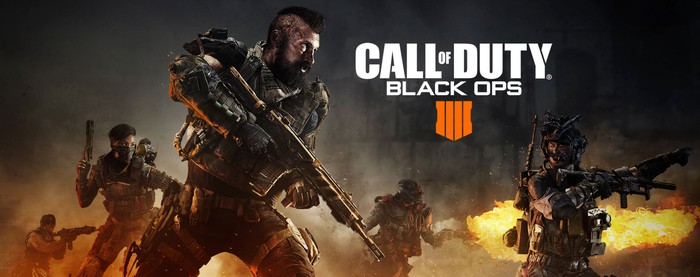 Five characters from Call of Duty: Black Ops 4 holding guns.