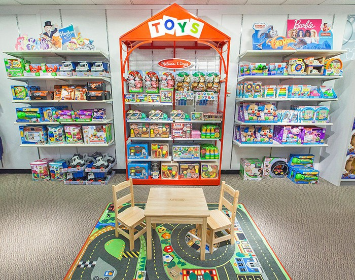 A toy display in a JCPenney store