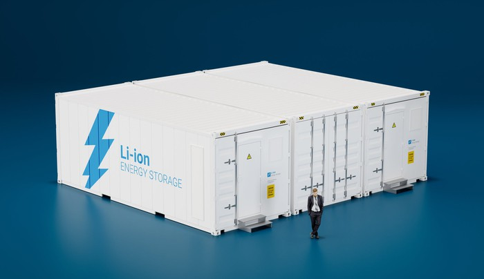 Lithium battery storage warehouse