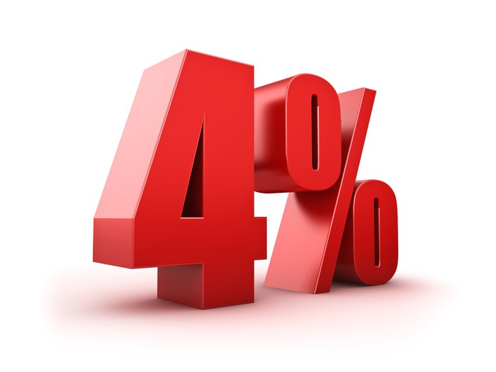 4% in red 3-D