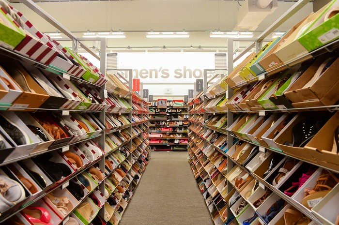 The interior of a Nordstrom Rack store.