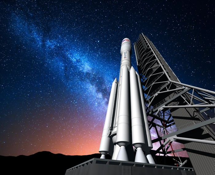 Artist's conception of Orbital ATK OmegA rocket.