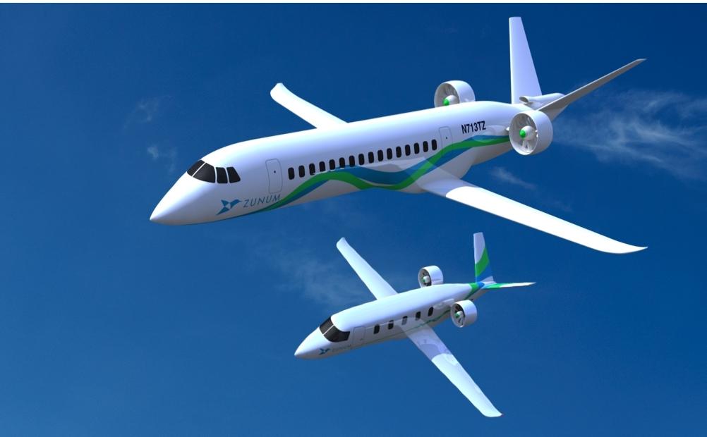 Zunum airplane artist rendering