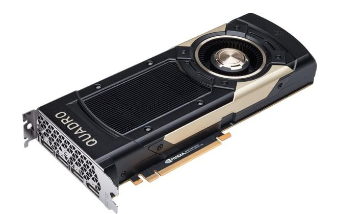 An NVIDIA graphics card.