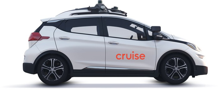 A GM Cruise vehicle.