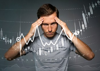 Man behind stock chart