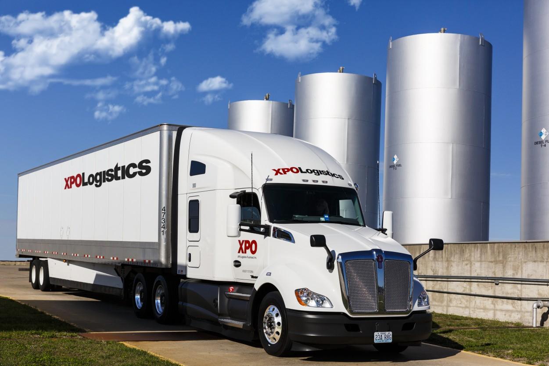 XPO Logistics tractor trailer