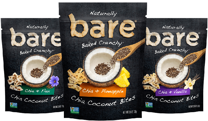 Bare Foods snack packages
