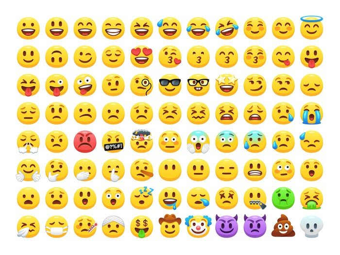 Lines of emojis