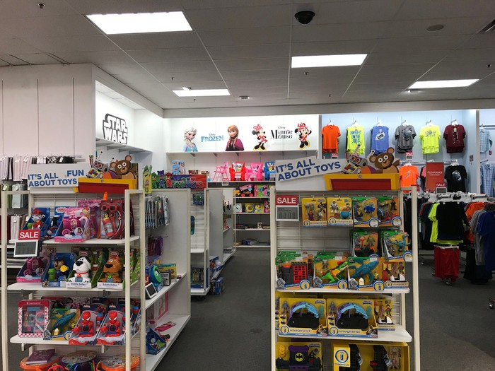 A toy section at a Kohl's store