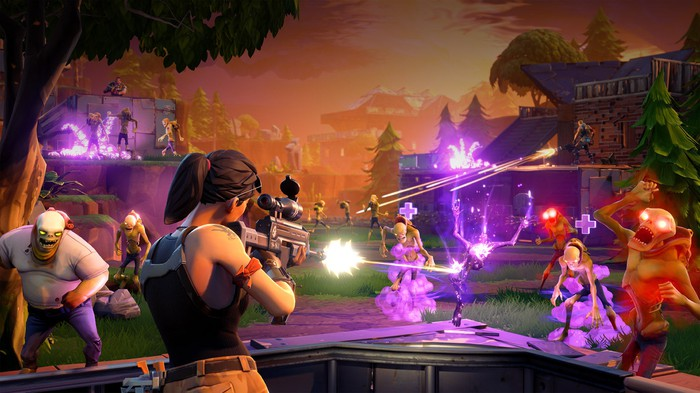 A battle scene from Epic Games' Fortnite.