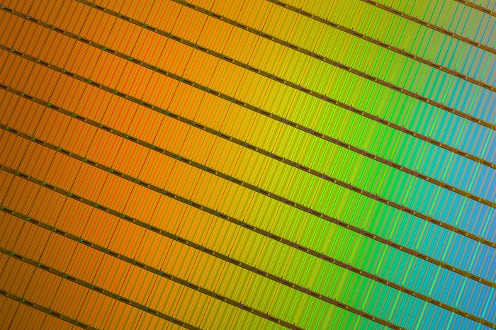 A wafer of 3D NAND flash.