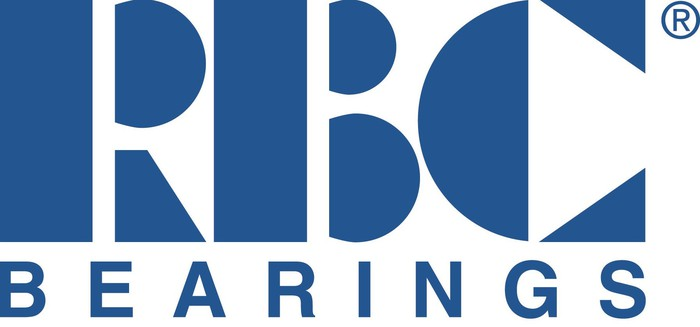 RBC Bearings logo in stylized letters, blue on white.