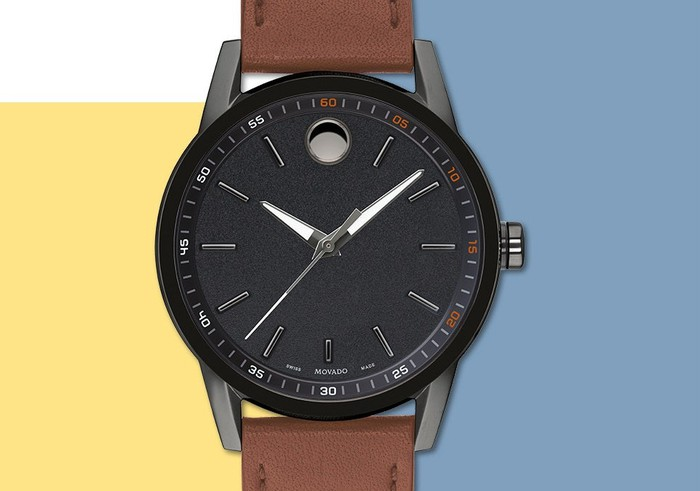Movado Museum Sport watch with brown leather band