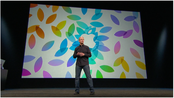 Apple CEO Tim Cook at a company product event